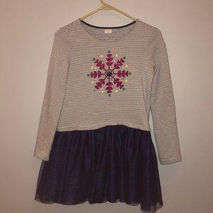 Gymboree shimmer Snowflake dress